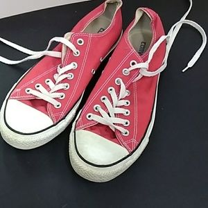 All Star red low Converse shoes